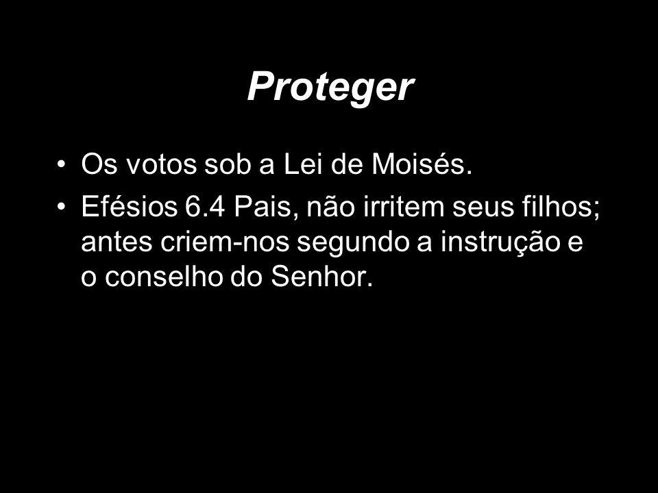 Proteger Os votos sob a Lei de Moisés.