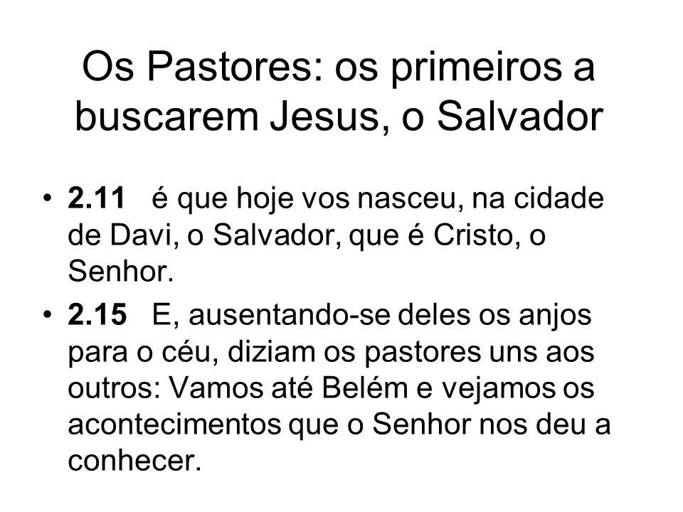 Os Pastores: os primeiros a buscarem Jesus, o Salvador