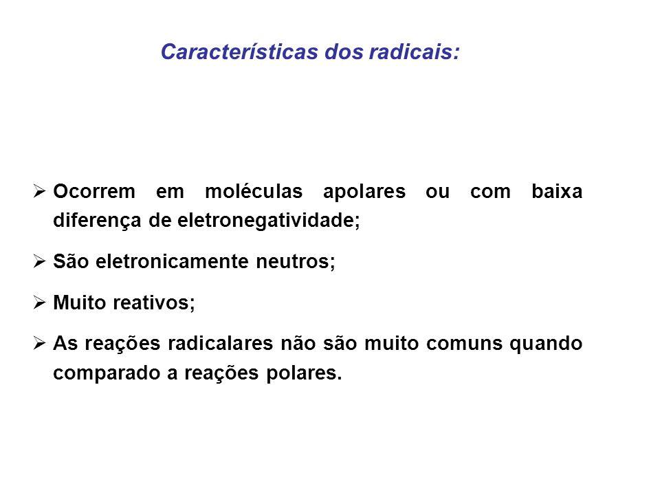 Características dos radicais: