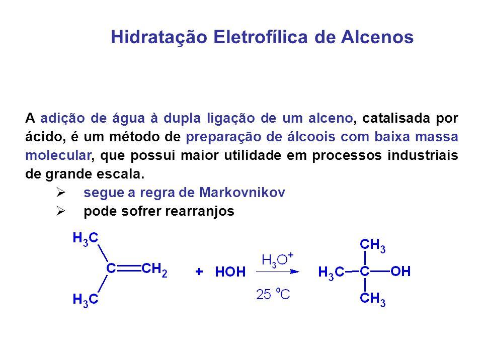 Hidratação Eletrofílica de Alcenos