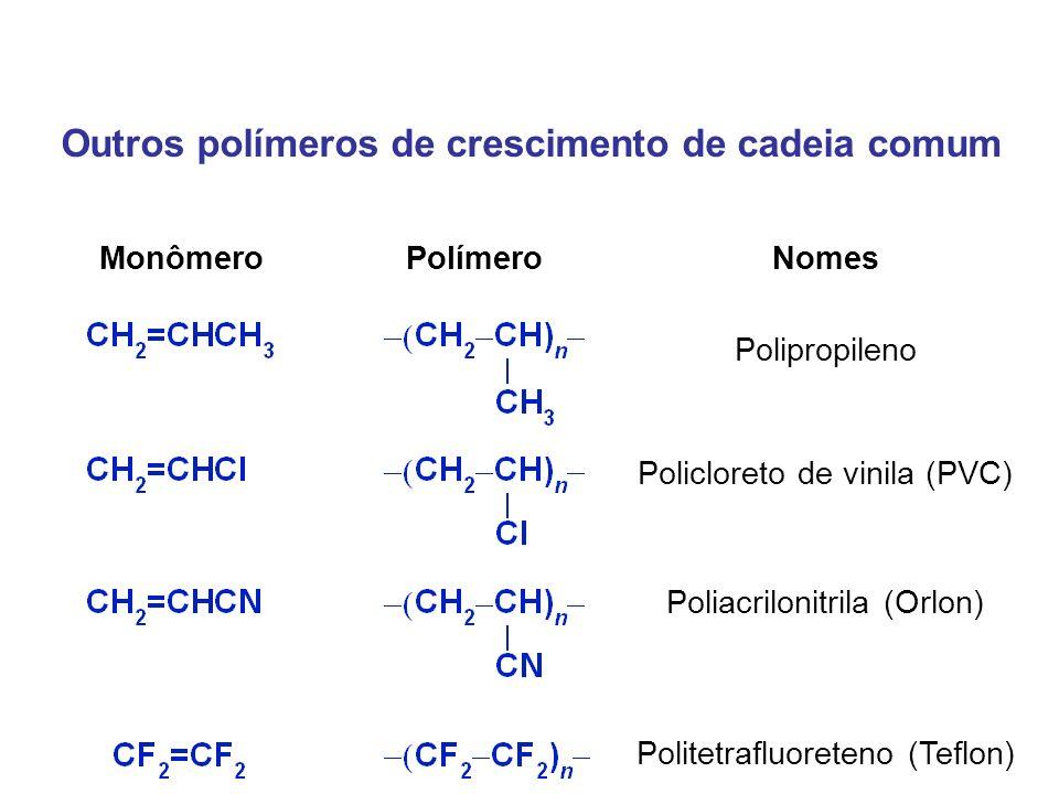 Outros polímeros de crescimento de cadeia comum