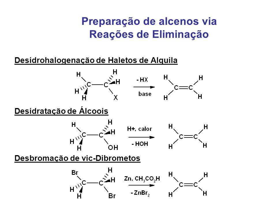 Preparação de alcenos via