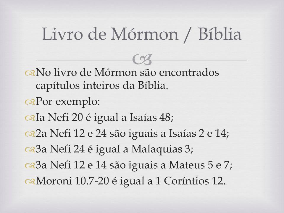 Livro de Mórmon / Bíblia