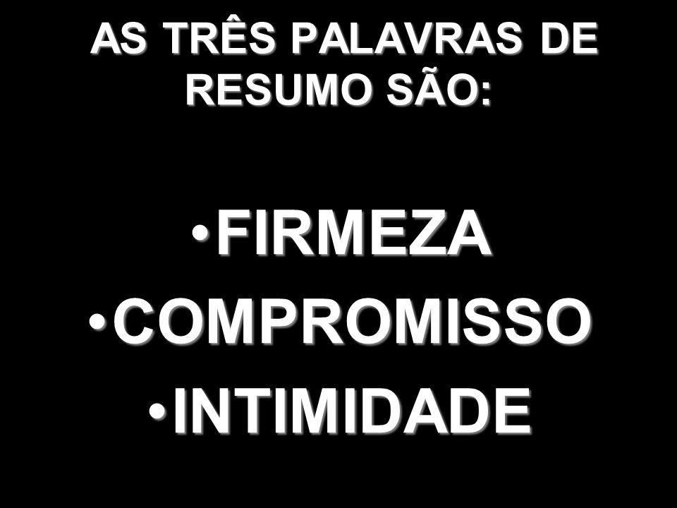 AS TRÊS PALAVRAS DE RESUMO SÃO: