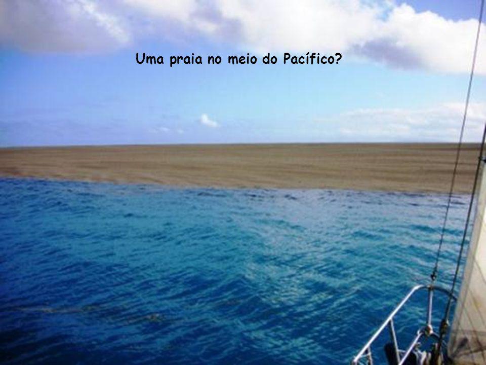 Uma praia no meio do Pacífico