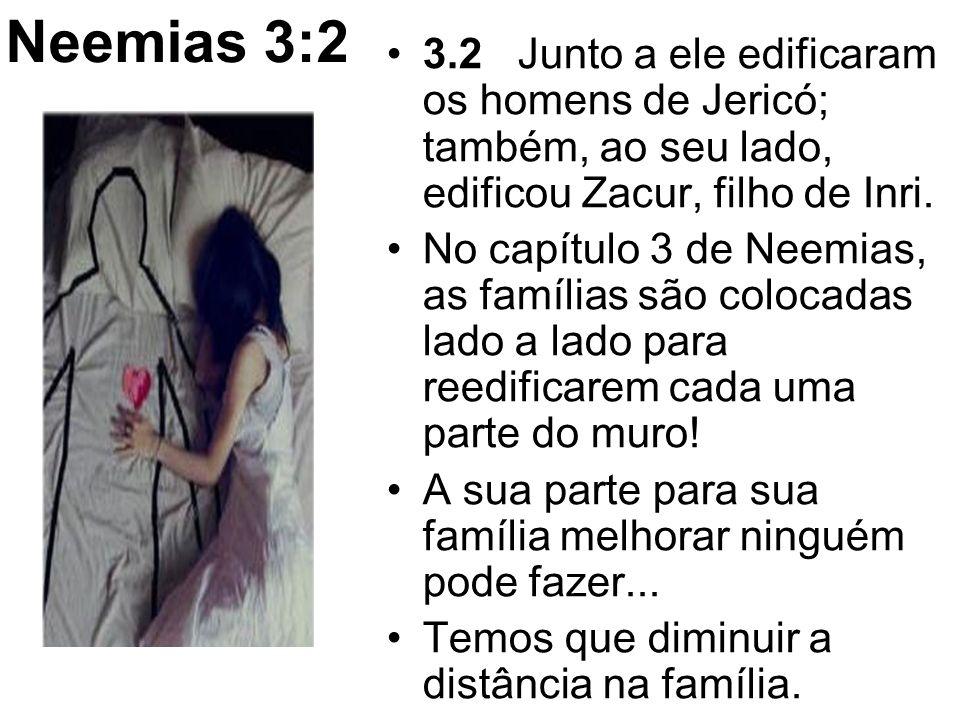 Neemias 3:2 3.2 Junto a ele edificaram os homens de Jericó; também, ao seu lado, edificou Zacur, filho de Inri.