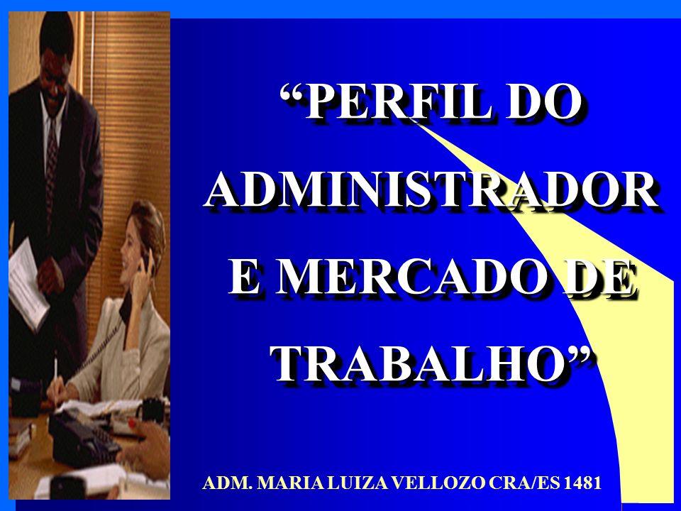 PERFIL DO ADMINISTRADOR ADM. MARIA LUIZA VELLOZO CRA/ES 1481