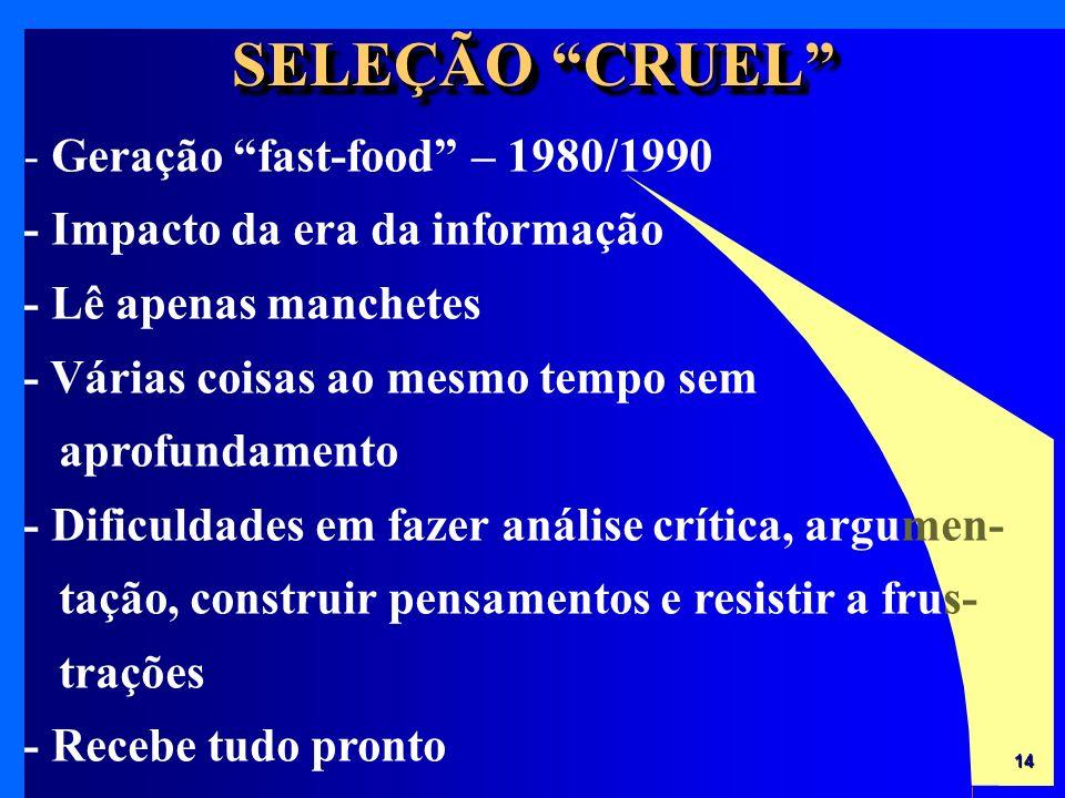 SELEÇÃO CRUEL