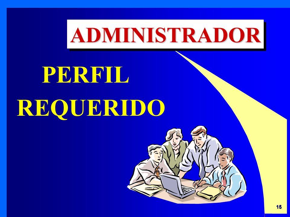 ADMINISTRADOR PERFIL REQUERIDO