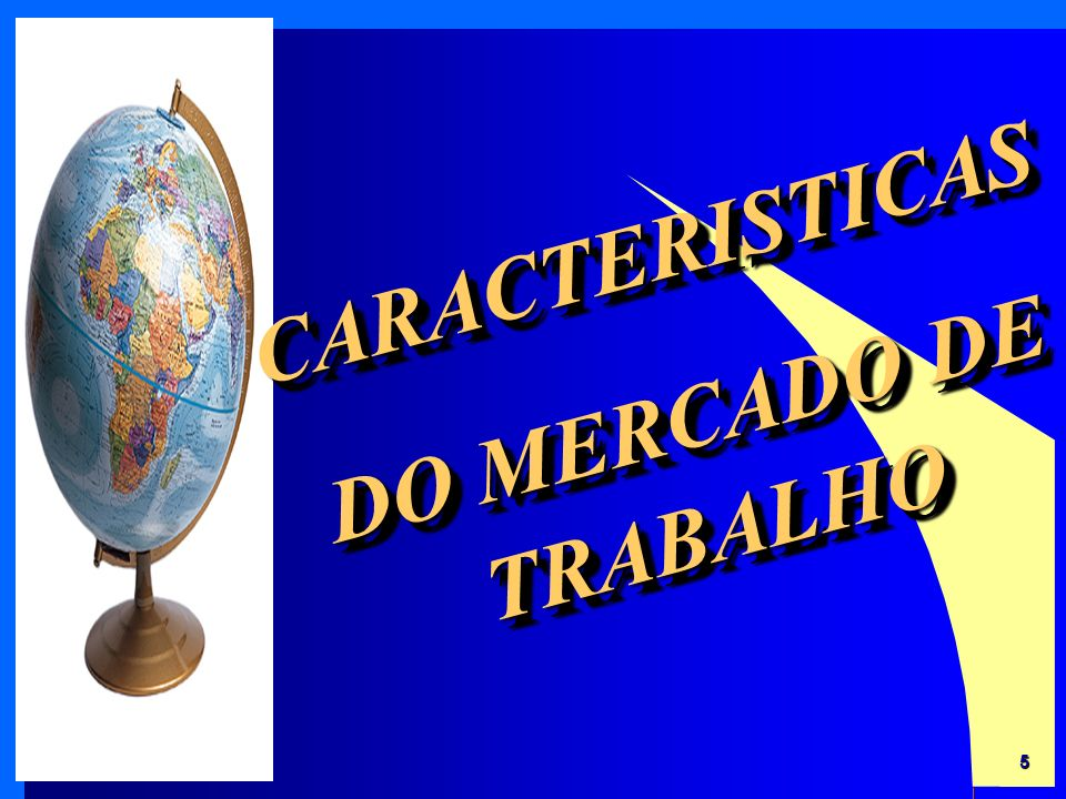 CARACTERISTICAS DO MERCADO DE TRABALHO