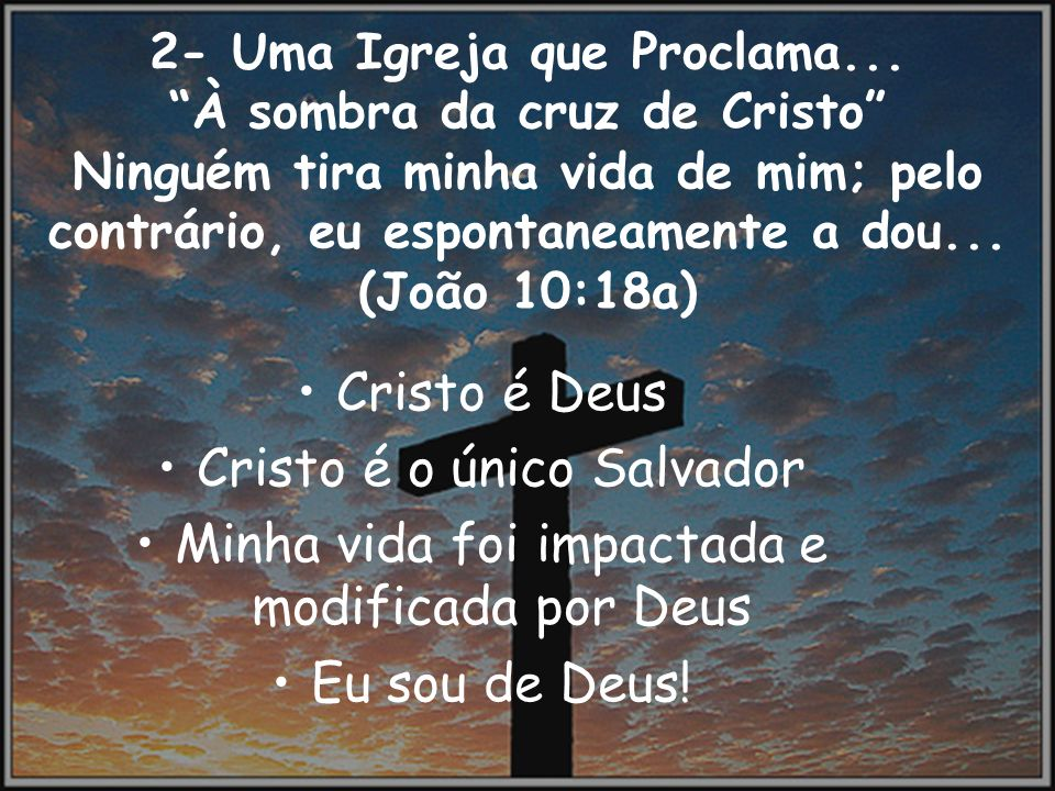Cristo é o único Salvador