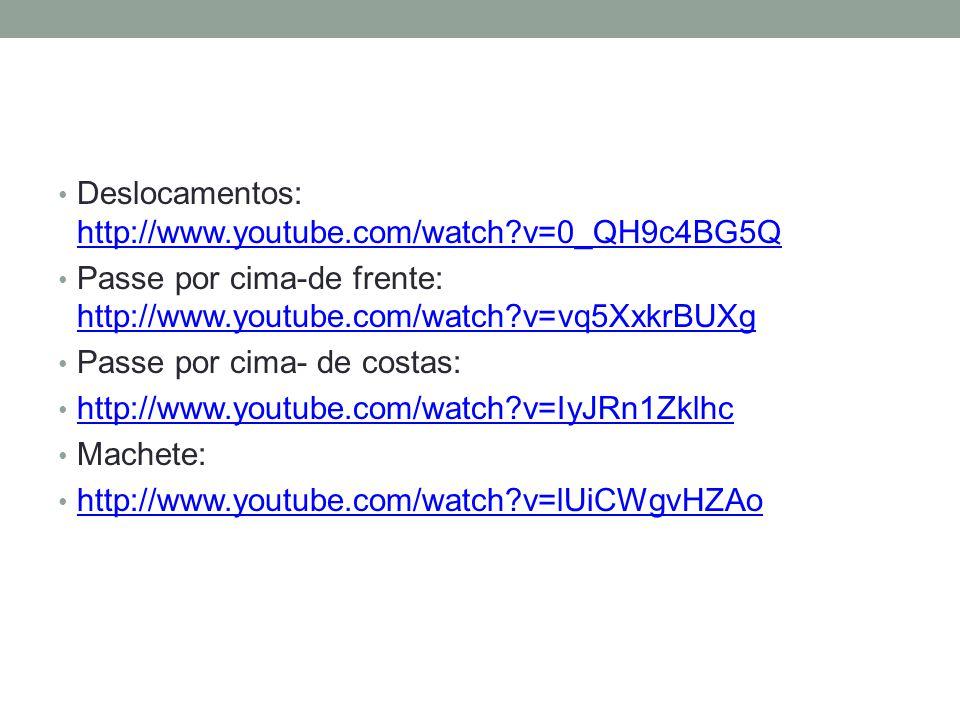 Deslocamentos: http://www.youtube.com/watch v=0_QH9c4BG5Q