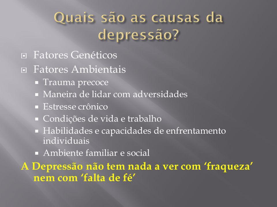 Quais são as causas da depressão