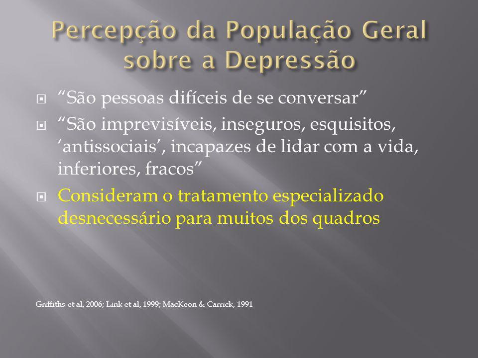 Percepção da População Geral sobre a Depressão