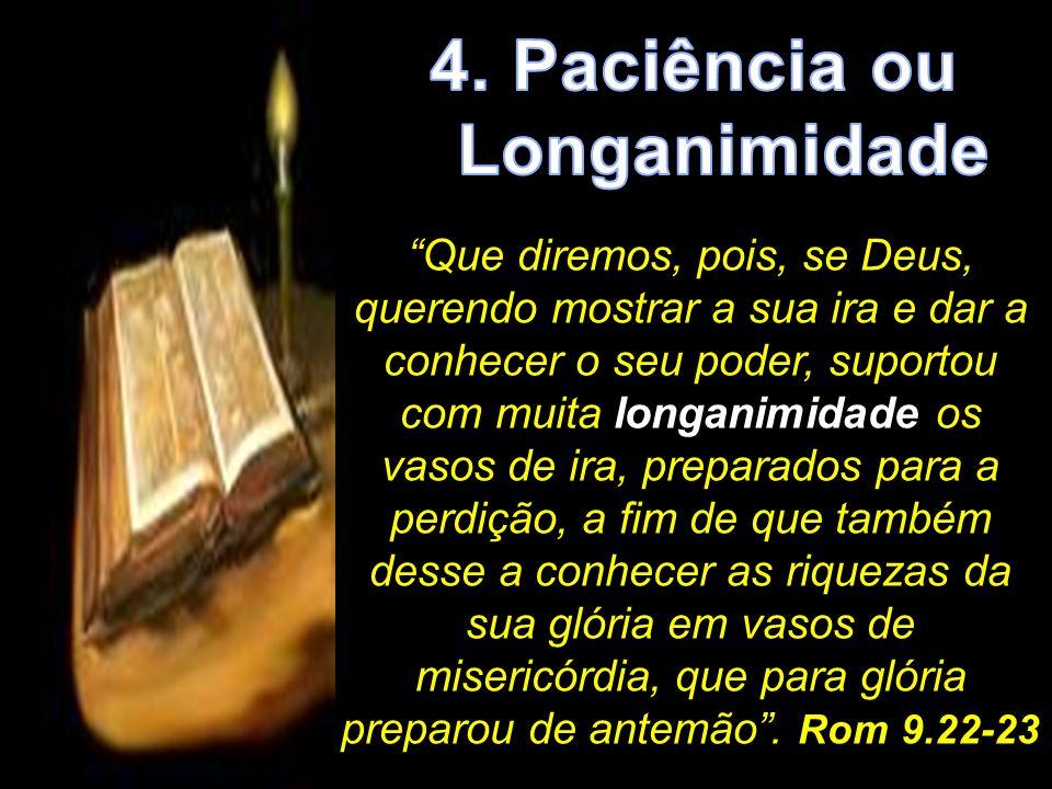 4. Paciência ou Longanimidade