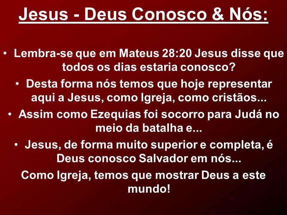 Jesus - Deus Conosco & Nós: