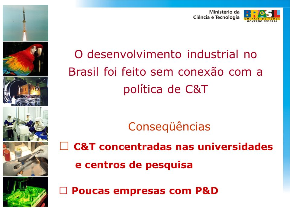 C&T concentradas nas universidades
