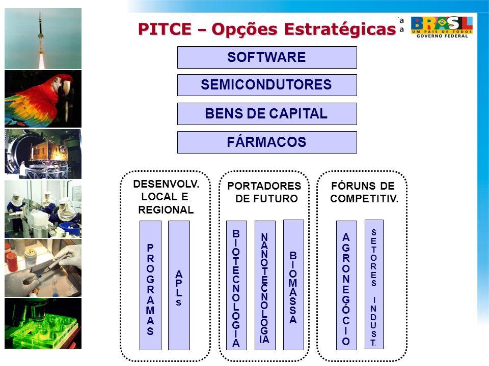 PITCE – Opções Estratégicas DESENVOLV. LOCAL E REGIONAL
