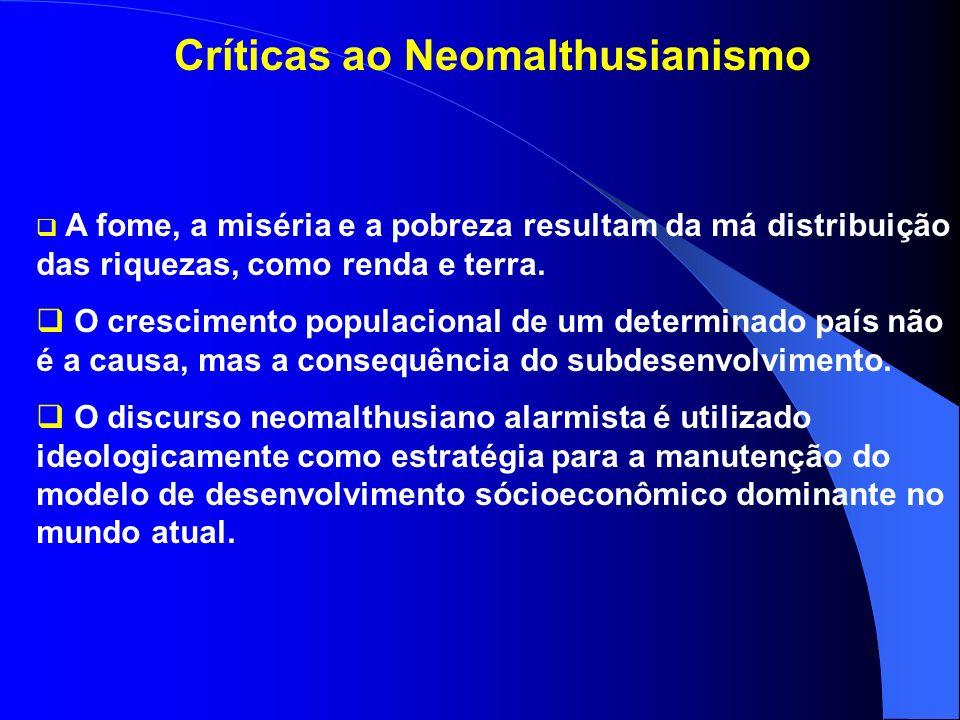 Críticas ao Neomalthusianismo