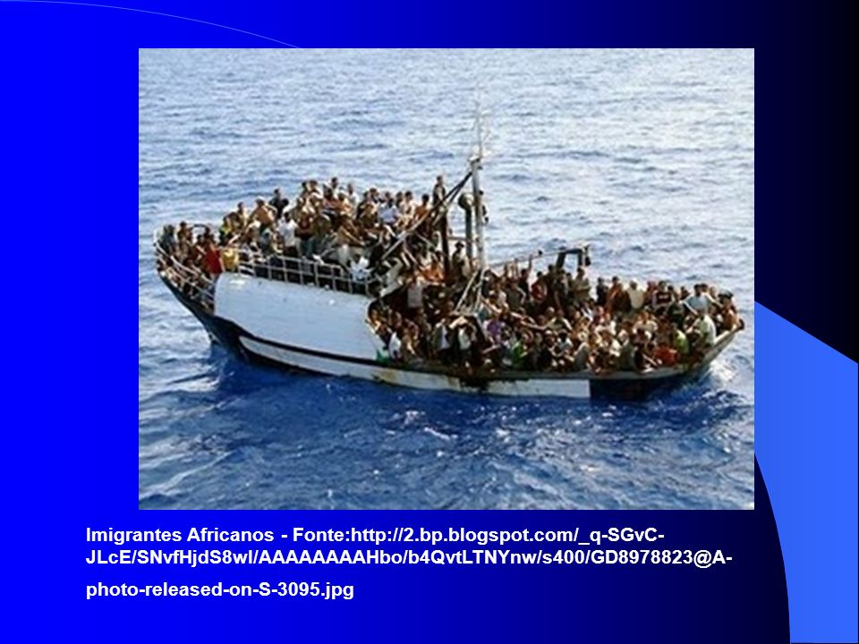 Imigrantes Africanos - Fonte:http://2. bp. blogspot