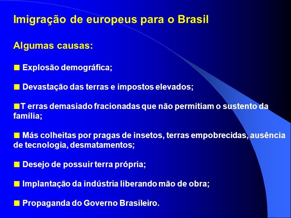 Imigração de europeus para o Brasil