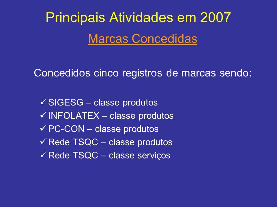 Principais Atividades em 2007