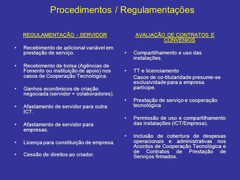 Procedimentos / Regulamentações