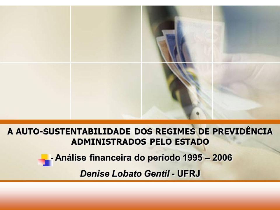 – Análise financeira do período 1995 – 2006
