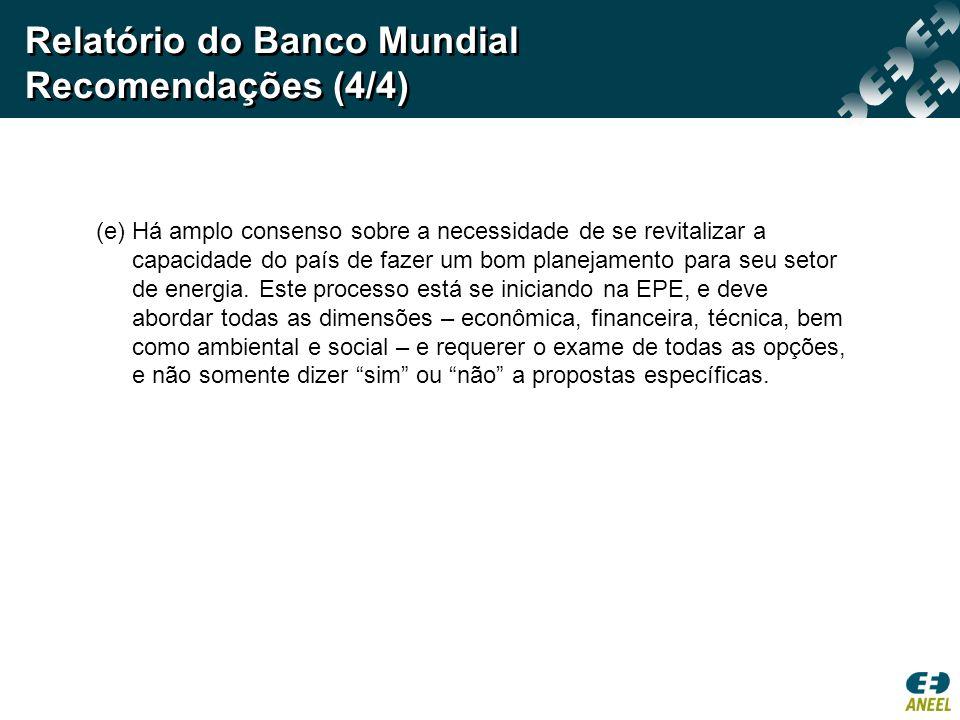 Relatório do Banco Mundial Recomendações (4/4)
