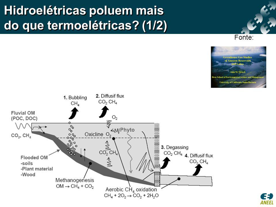 Hidroelétricas poluem mais do que termoelétricas (1/2)