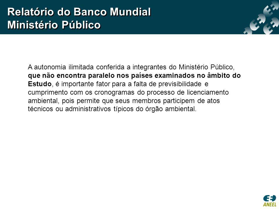 Relatório do Banco Mundial Ministério Público
