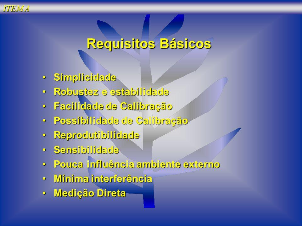 Requisitos Básicos Simplicidade Robustez e estabilidade