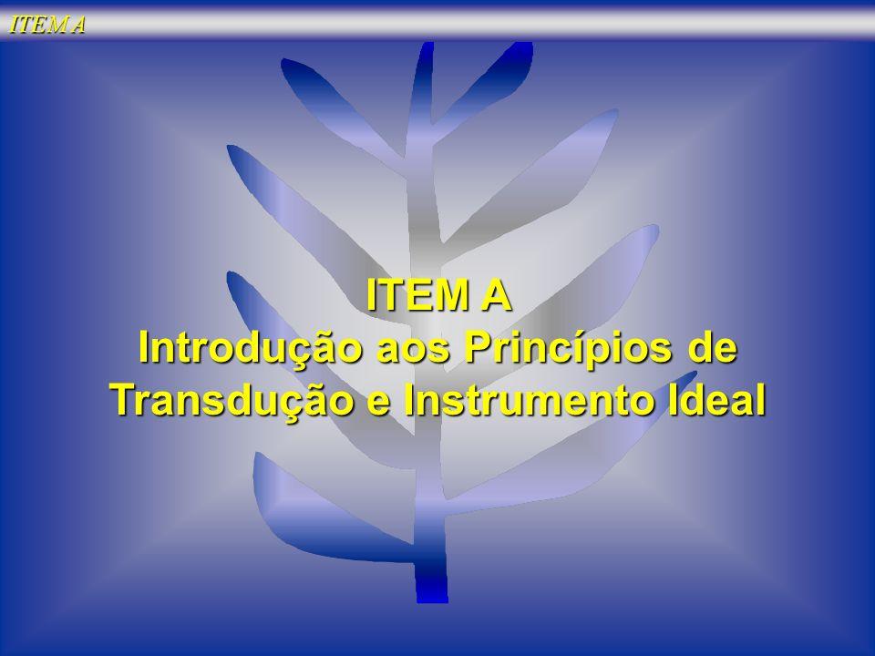 Introdução aos Princípios de Transdução e Instrumento Ideal