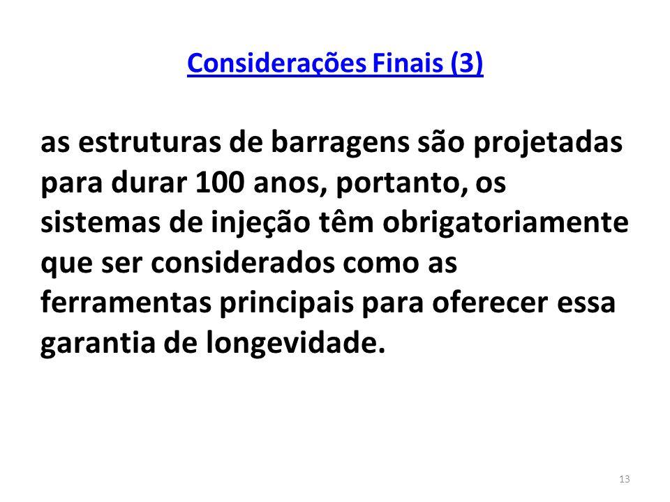 Considerações Finais (3)