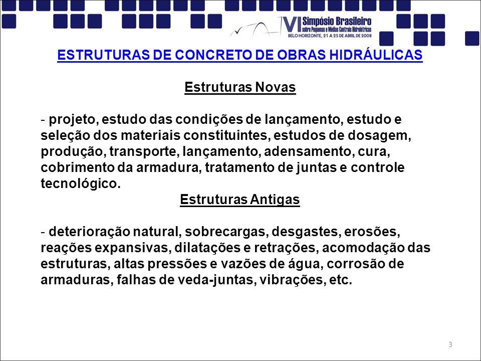 ESTRUTURAS DE CONCRETO DE OBRAS HIDRÁULICAS