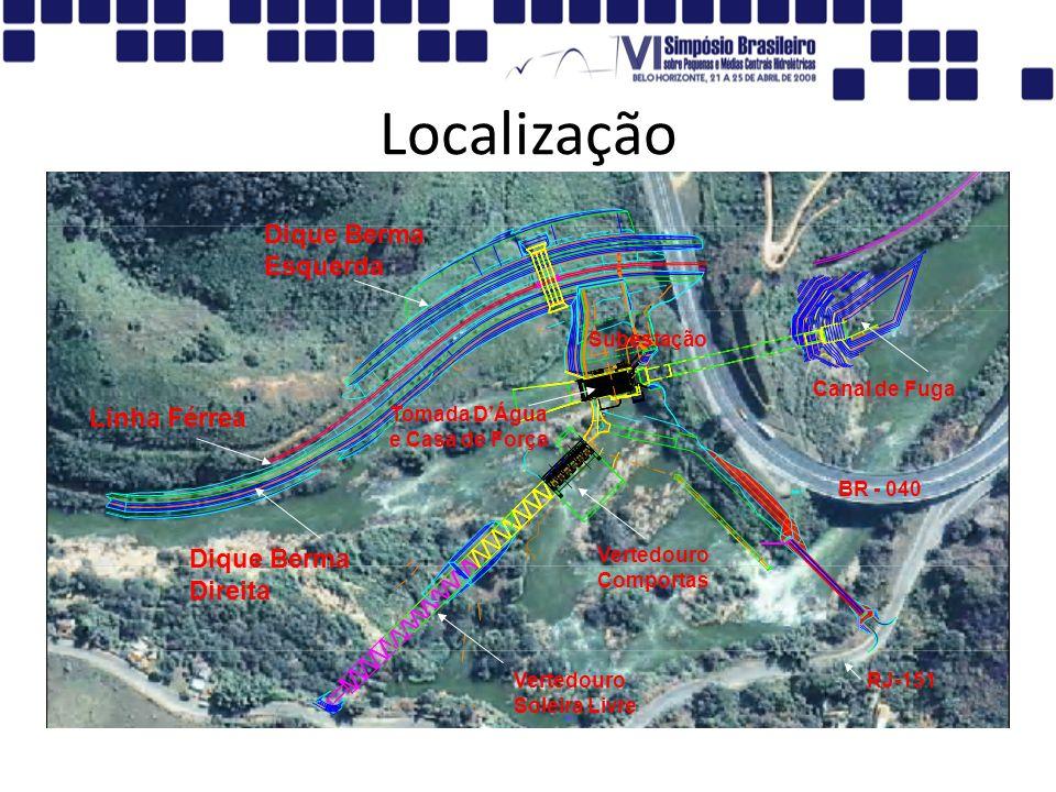 Localização Dique Berma Esquerda Linha Férrea Dique Berma Direita