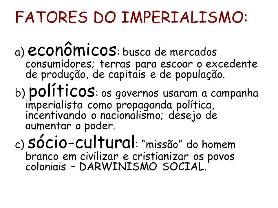 FATORES DO IMPERIALISMO: