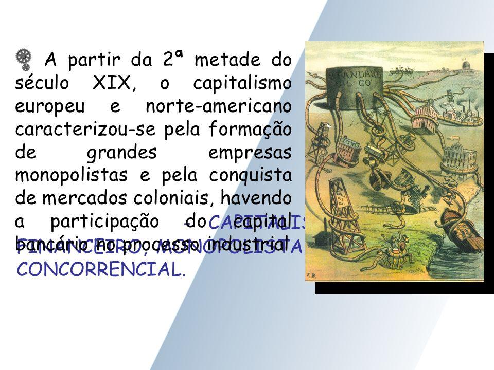 - CAPITALISMO FINANCEIRO, MONOPOLISTA ou CONCORRENCIAL.