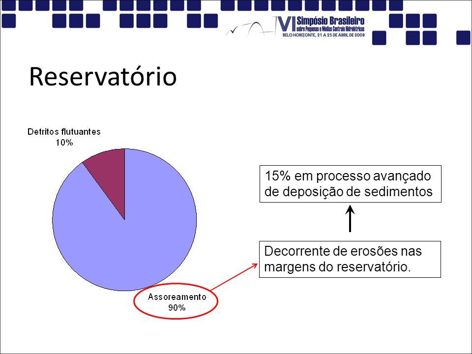 Reservatório 15% em processo avançado de deposição de sedimentos