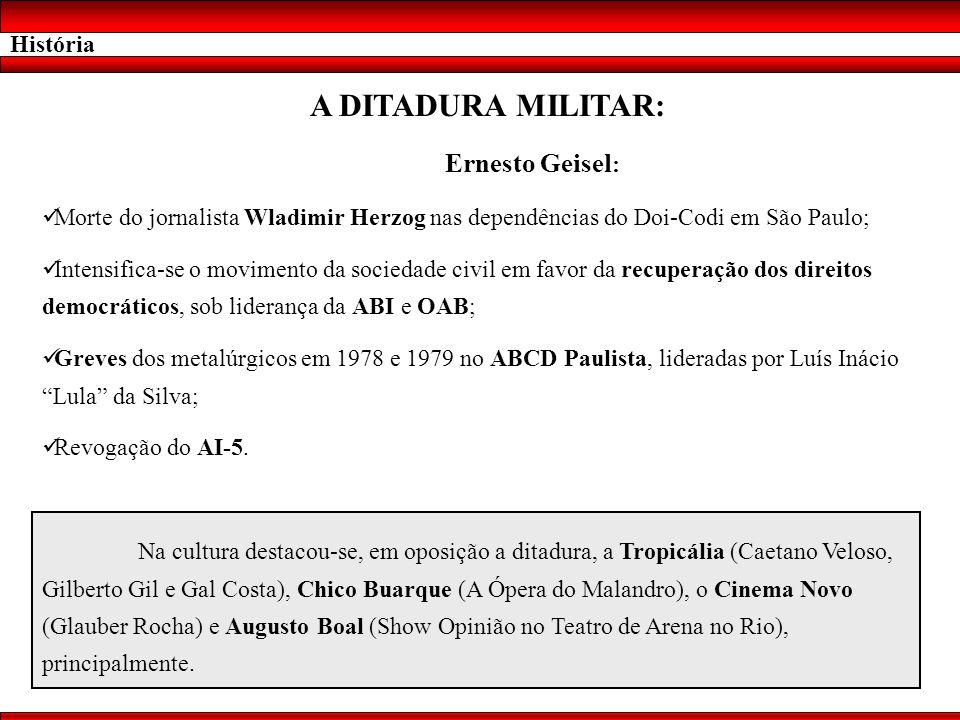 A DITADURA MILITAR: Ernesto Geisel: História