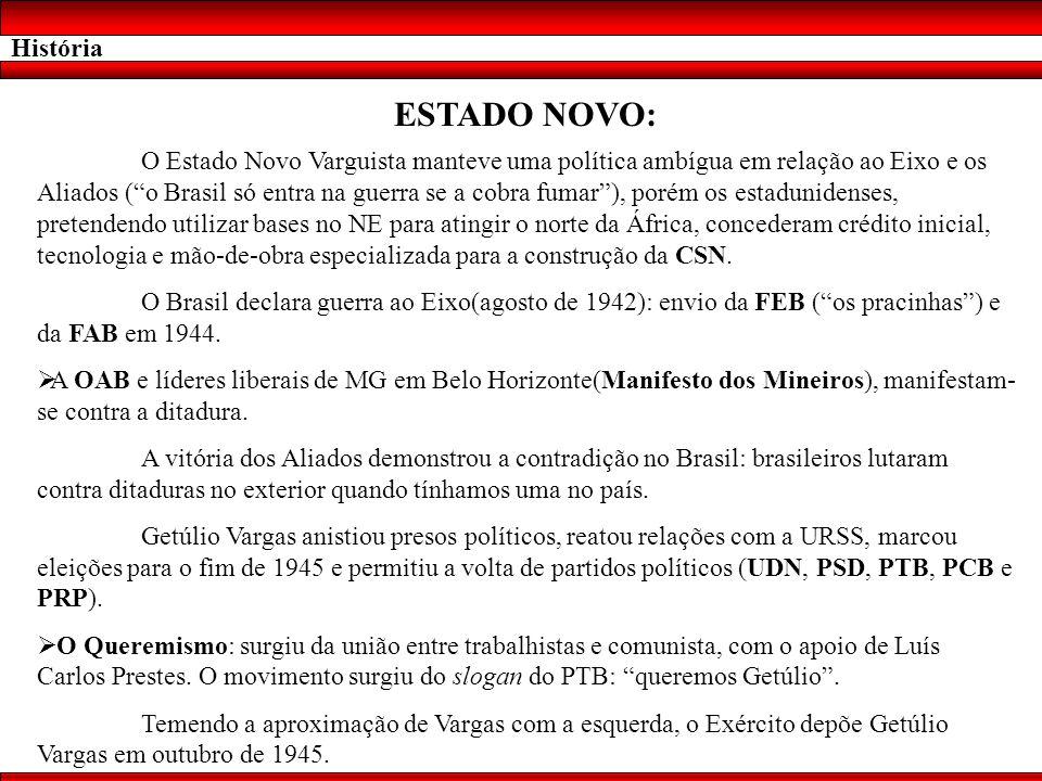 História ESTADO NOVO: