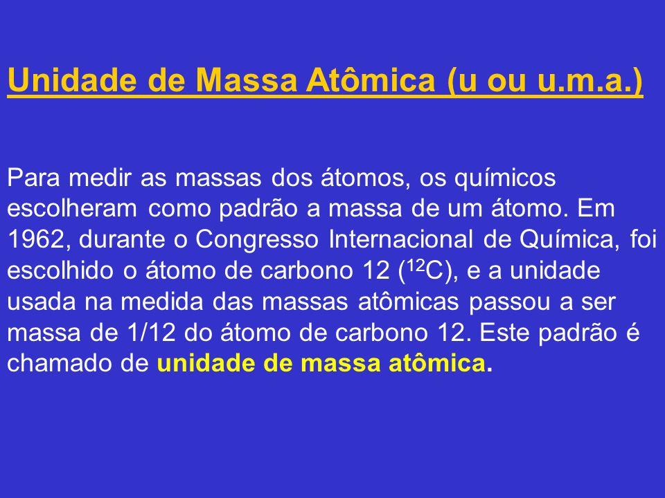 Unidade de Massa Atômica (u ou u. m. a