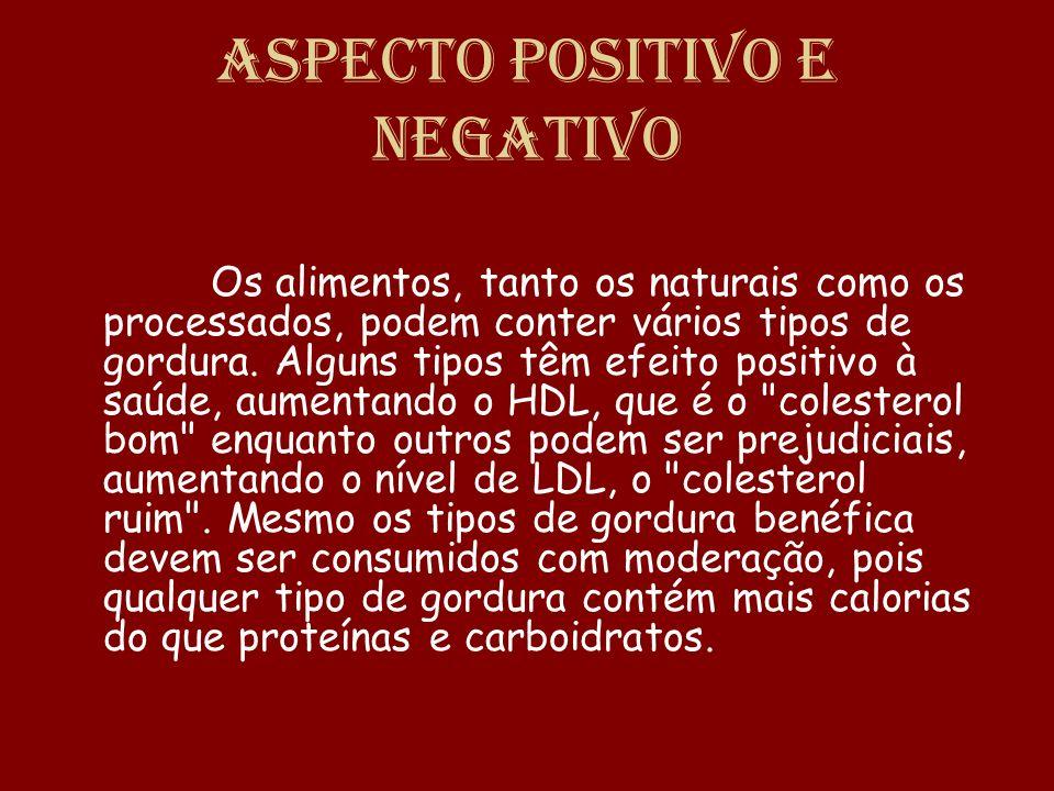 Aspecto positivo e negativo