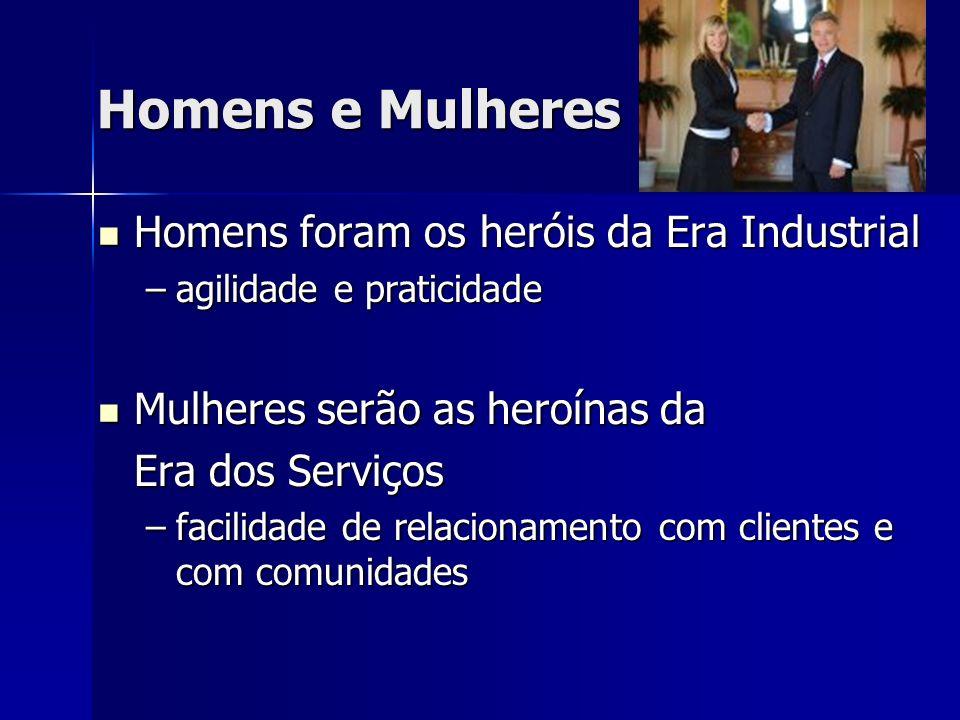 Homens e Mulheres Homens foram os heróis da Era Industrial