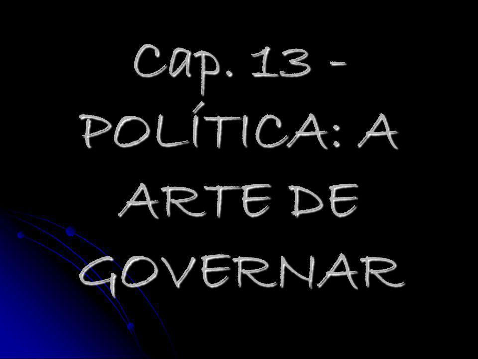 Cap. 13 - POLÍTICA: A ARTE DE GOVERNAR