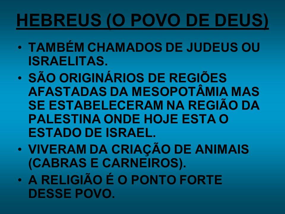 HEBREUS (O POVO DE DEUS)