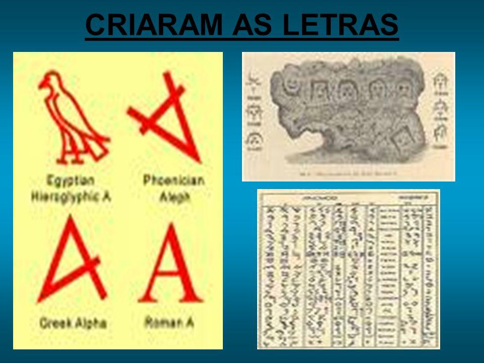 CRIARAM AS LETRAS