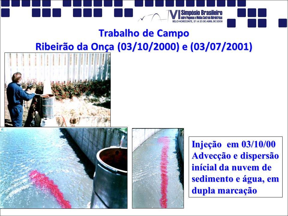 Trabalho de Campo Ribeirão da Onça (03/10/2000) e (03/07/2001)
