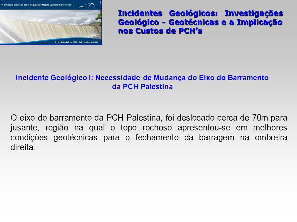 Incidente Geológico I: Necessidade de Mudança do Eixo do Barramento da PCH Palestina