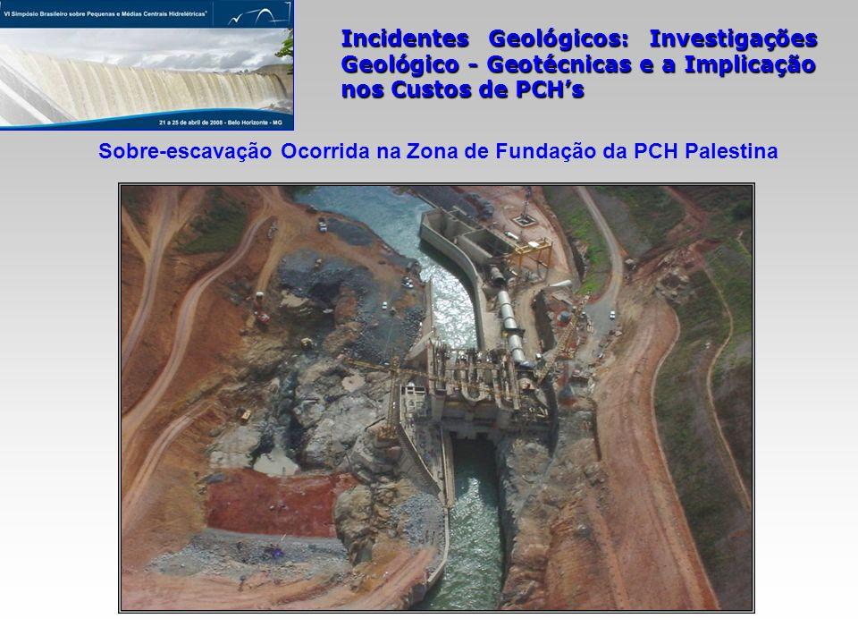 Sobre-escavação Ocorrida na Zona de Fundação da PCH Palestina